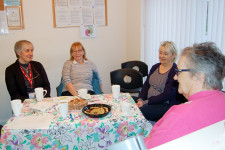 Debbie Doheney, Guide Post Support Worker, attends Caring Cafe meeting