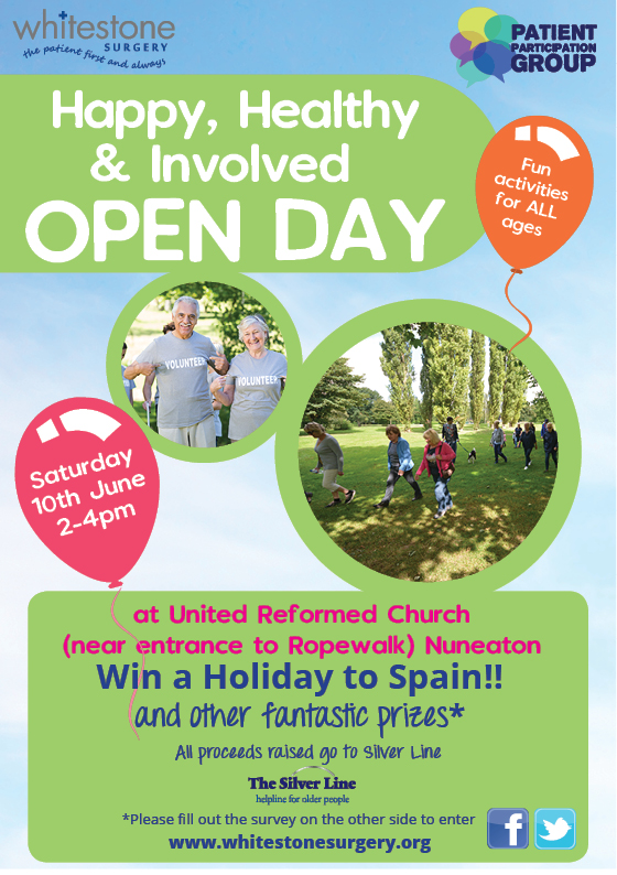 Happy Healthy Involved Open Day Poster