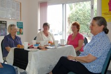 Chris Gabriel leads Carer's Café meeting