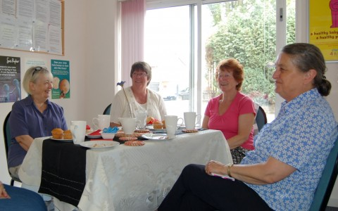 Chris Gabriel leads Carer's Cafe meeting