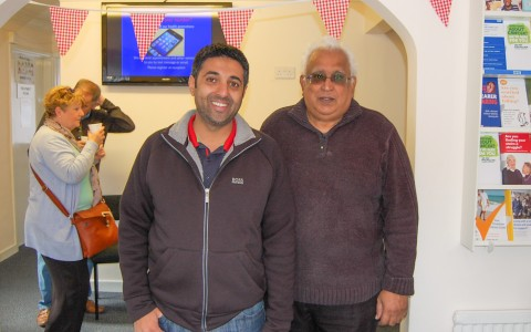 Local pharmacist Manny and Hay Sharma