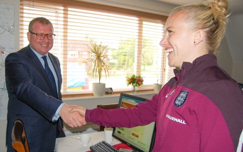Marcus Jones MP meets Laura Bassett
