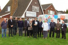 Jeff Morgan – County Councillor for Whitestone with the Silver Surfers Team