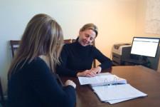 Heather Miller coaches a Whitestone Job Club candidate