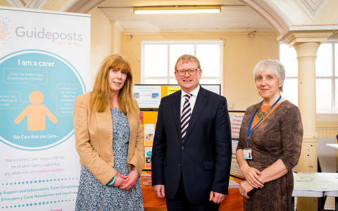 Marcus Jones MP with the Guideposts team