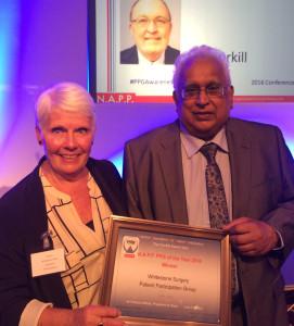 PPG accept Corkill award
