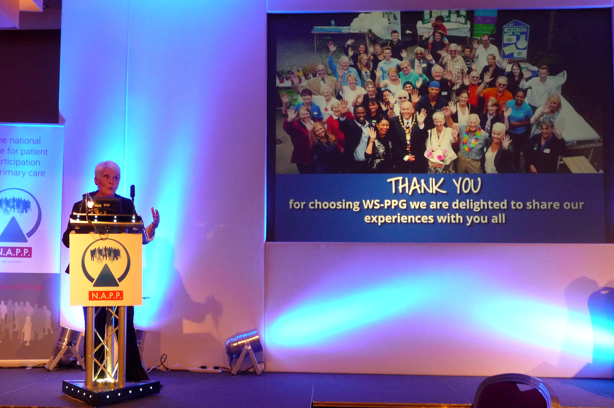 Di Kent speaks at conference