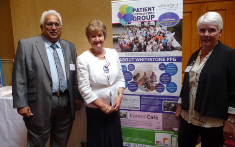 Di Kent (Chair), Hay Sharma (Deputy Chair) and Dr Patricia Wilkie Chair & Hon President of NAPP at the WS-PPG Stand