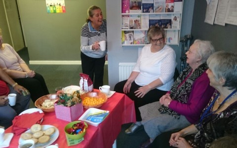 Having fun at the Carers' Café