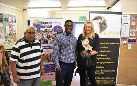 Falconry display at Caring Café meeting