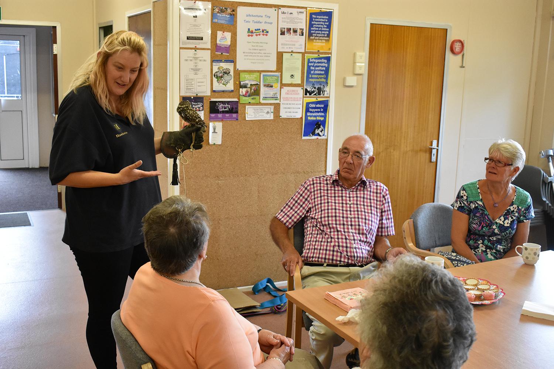 Falconry display at Caring Cafe meeting