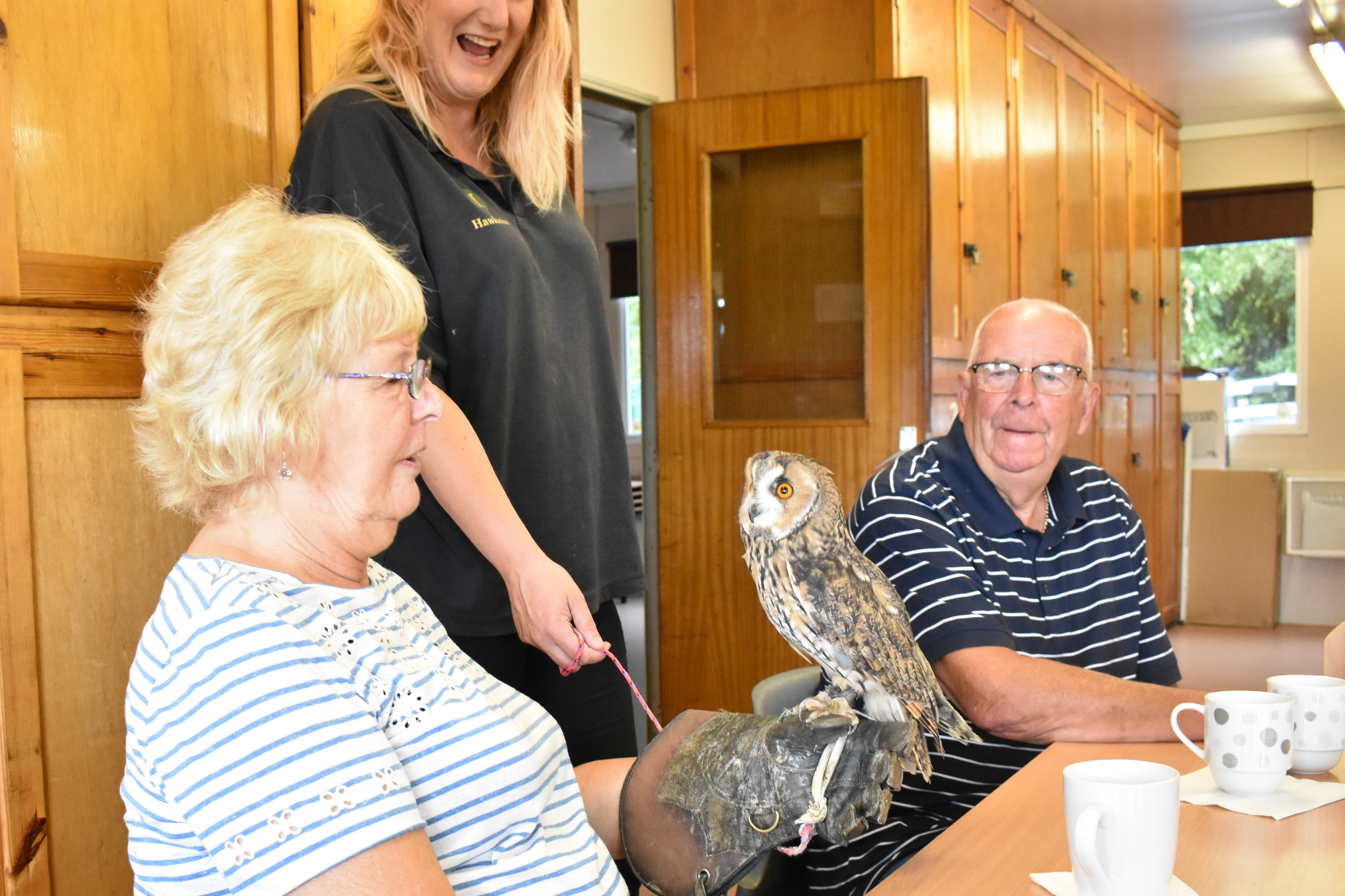 Hawkwise Falconry visits Caring Café