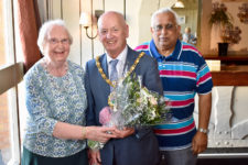 Mayor Bill Hancox given special thanks from members of the Caring Café