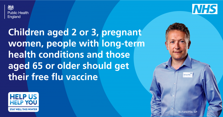 get your free flu jab now