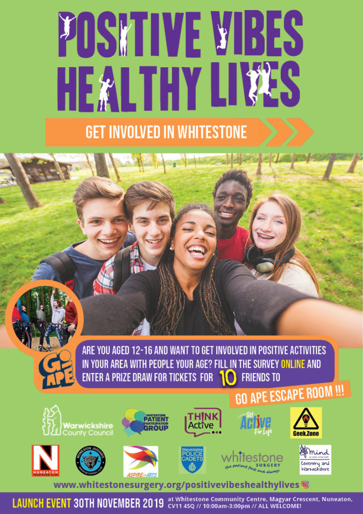 Positive vibes healthy lives poster