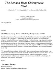 Letter of Support - Nuffield Department of Primary Care Health Sciences, Oxford University